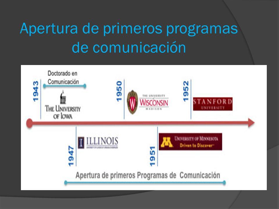 Apertura de primeros programas de comunicación