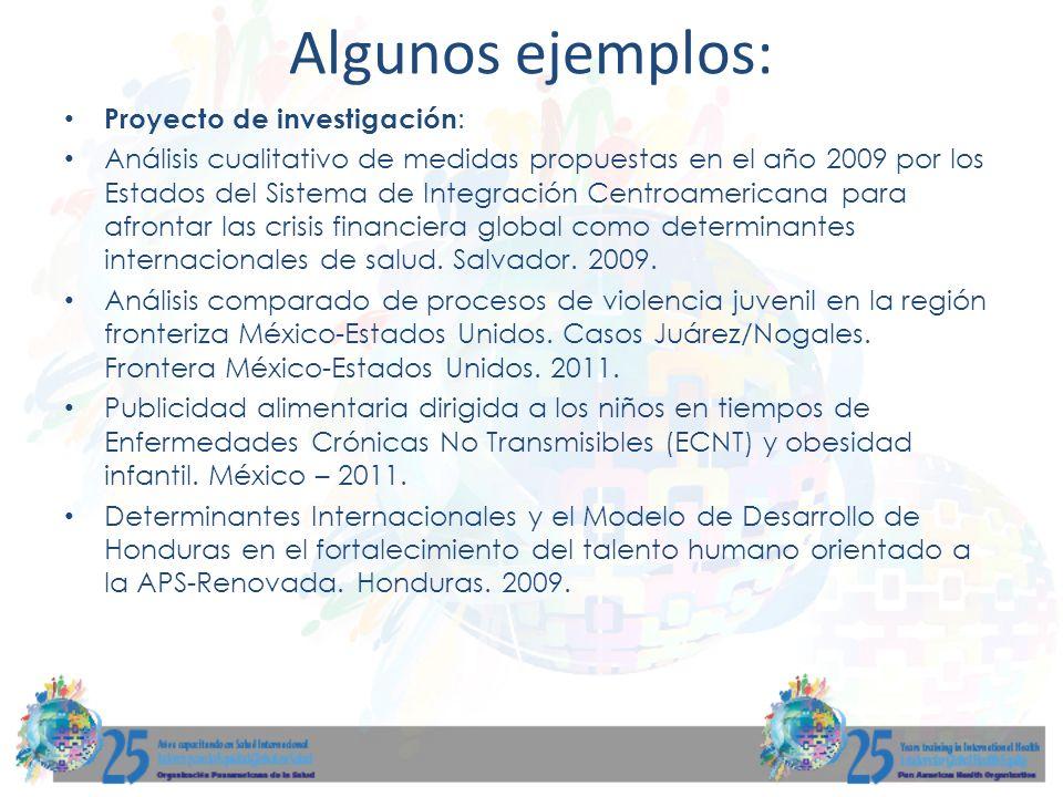 Proyecto de investigación : Análisis cualitativo de medidas propuestas en el año 2009 por los Estados del Sistema de Integración Centroamericana para