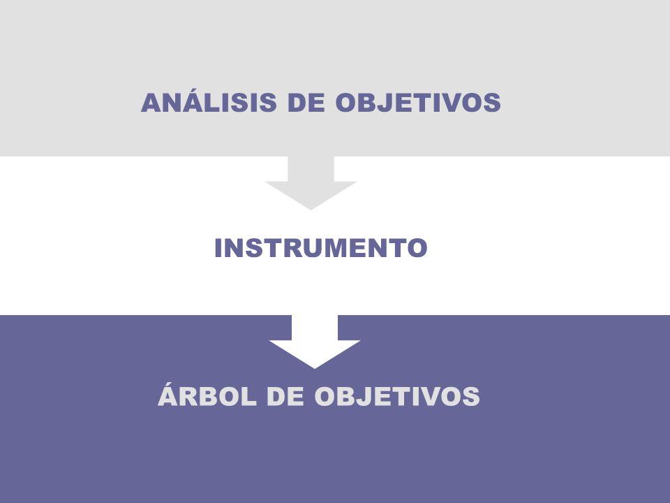 ÁRBOL DE OBJETIVOS INSTRUMENTO ANÁLISIS DE OBJETIVOS