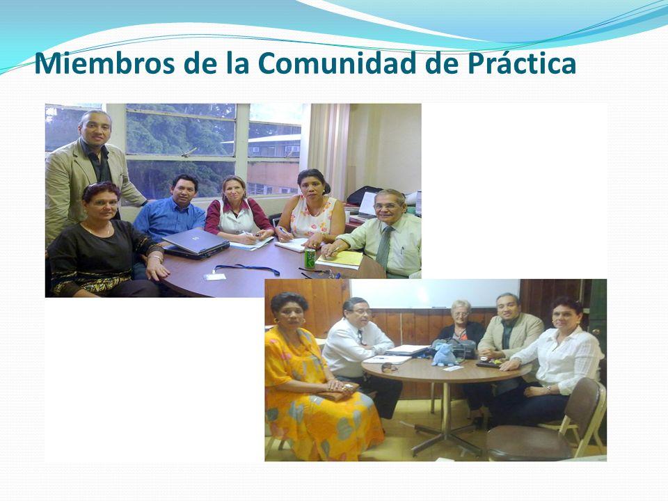 Miembros de la Comunidad de Práctica