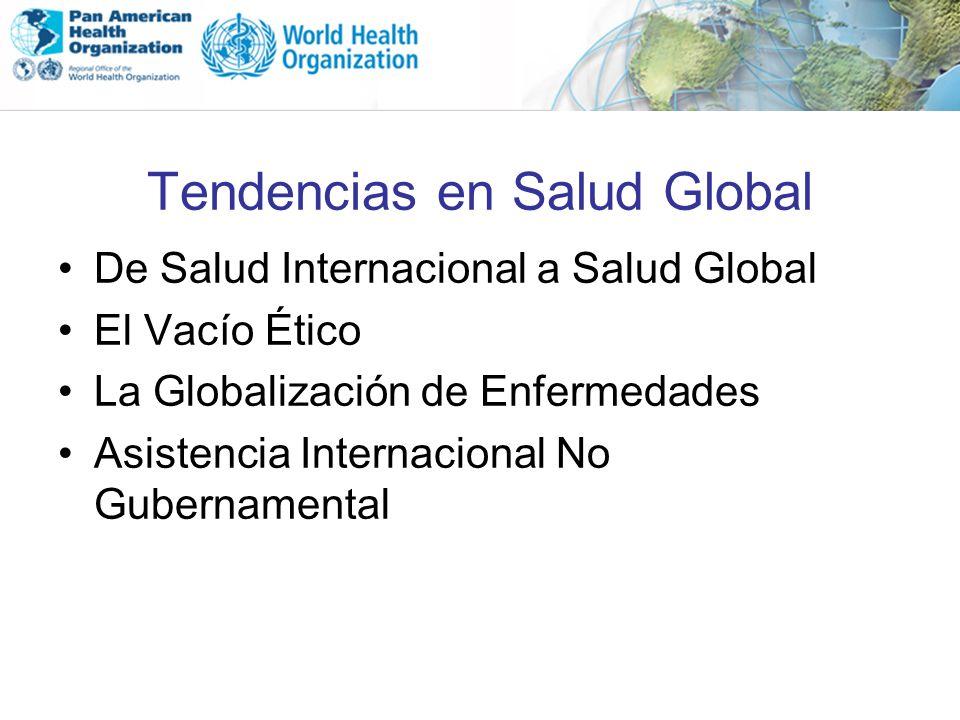 Tendencias en Salud Global De Salud Internacional a Salud Global El Vacío Ético La Globalización de Enfermedades Asistencia Internacional No Gubername
