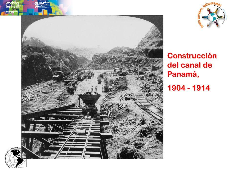 Construcción del canal de Panamá, 1904 - 1914