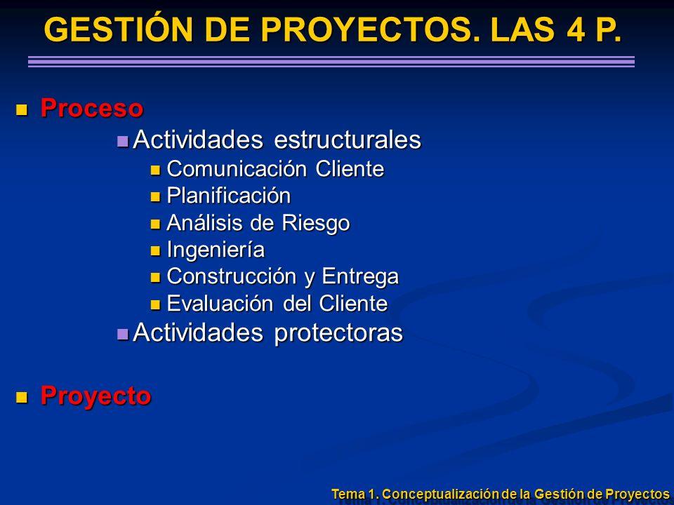 Proceso Proceso Actividades estructurales Actividades estructurales Comunicación Cliente Comunicación Cliente Planificación Planificación Análisis de