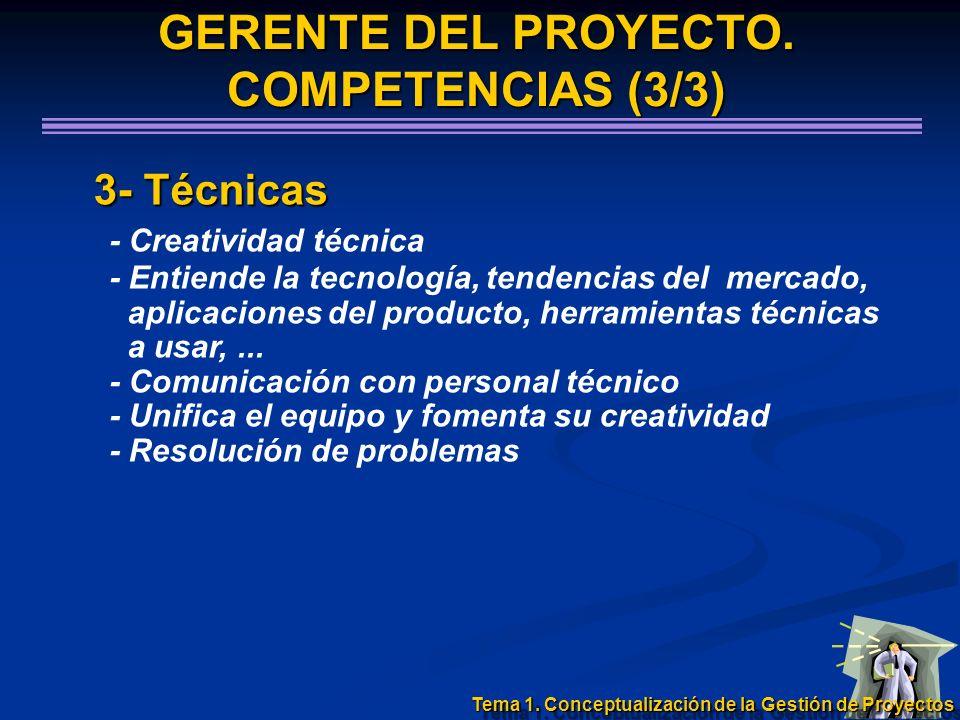 3- Técnicas 3- Técnicas - Creatividad técnica - Entiende la tecnología, tendencias del mercado, aplicaciones del producto, herramientas técnicas a usa
