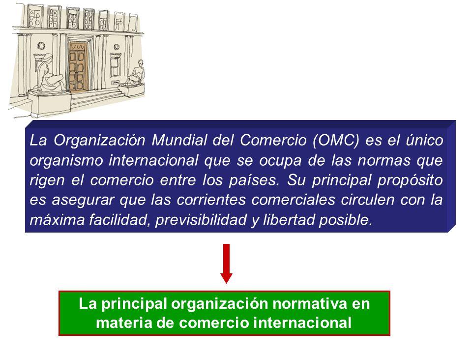 La Organización Mundial del Comercio (OMC) es el único organismo internacional que se ocupa de las normas que rigen el comercio entre los países. Su p