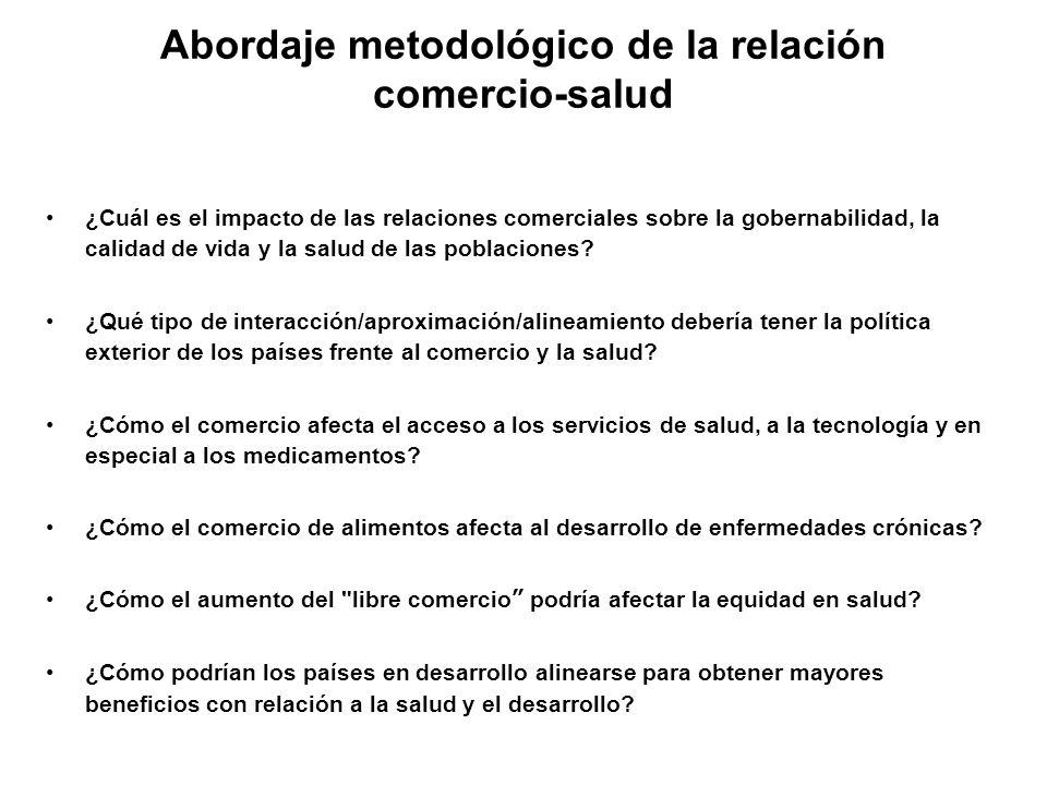 Abordaje metodológico de la relación comercio-salud ¿Cuál es el impacto de las relaciones comerciales sobre la gobernabilidad, la calidad de vida y la