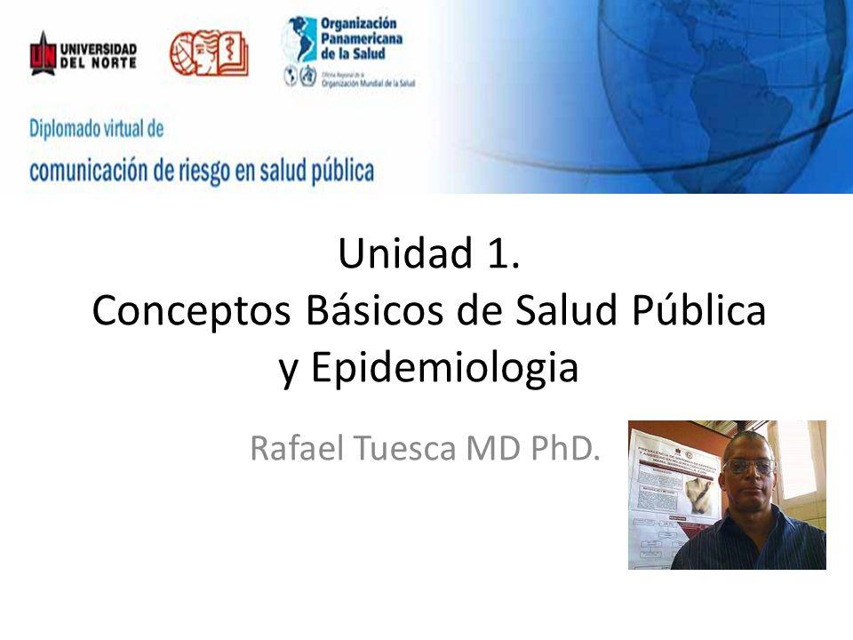 Unidad 1. Conceptos Básicos de Salud Pública y Epidemiologia Rafael Tuesca MD PhD.