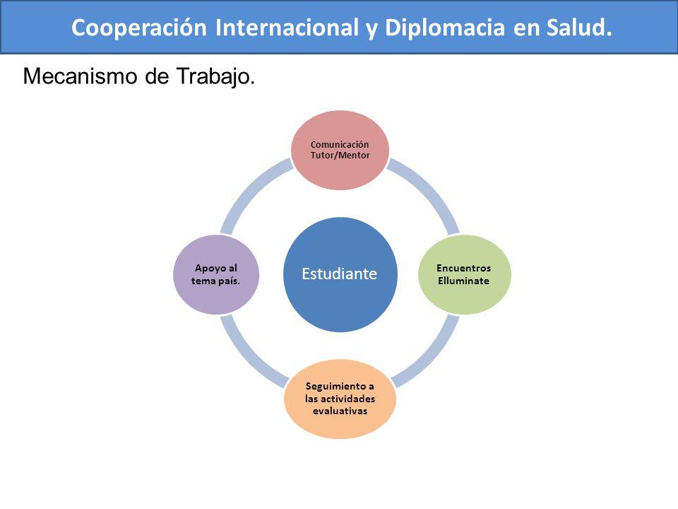Cooperación Internacional y Diplomacia en Salud.