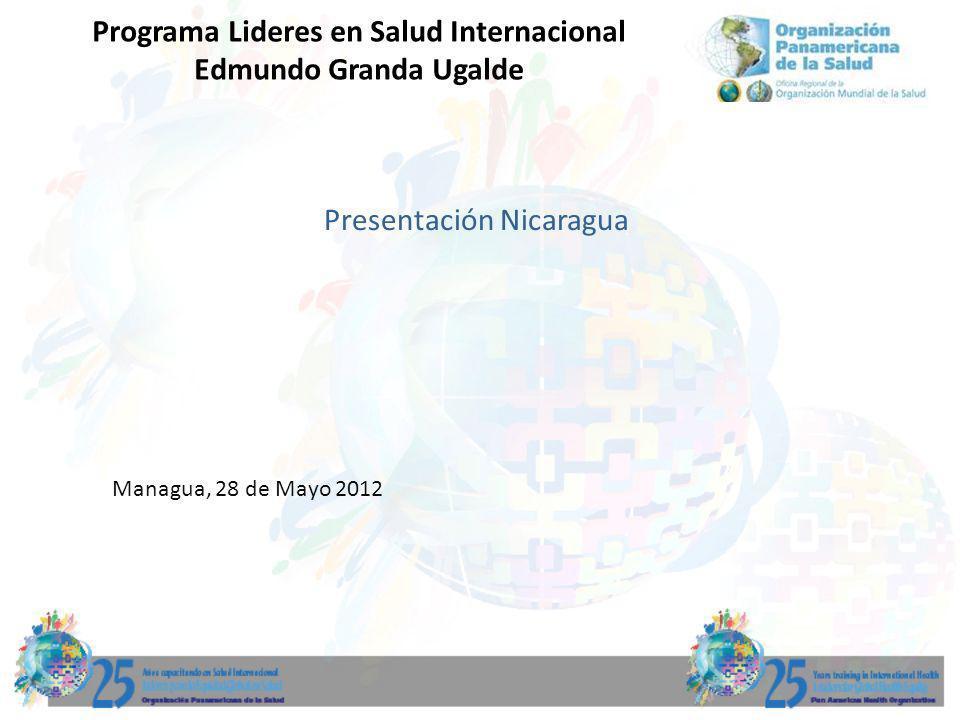 Presentación Nicaragua Managua, 28 de Mayo 2012 Programa Lideres en Salud Internacional Edmundo Granda Ugalde