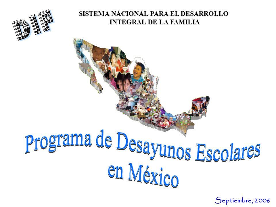 SISTEMA NACIONAL PARA EL DESARROLLO INTEGRAL DE LA FAMILIA Septiembre, 2006