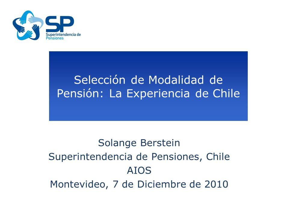 Introducción Tipos y modalidades de pensión Características y que riesgos protege Perfil de pensionado Sistemas de Consultas de Montos de Pensión: como opera y principales resultados.