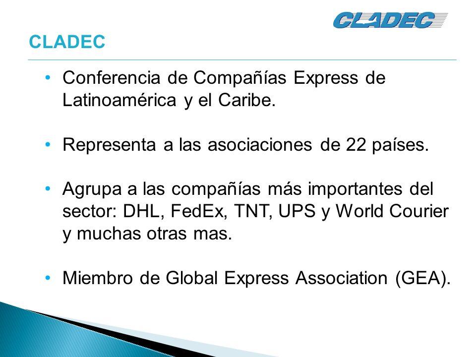 Conferencia de Compañías Express de Latinoamérica y el Caribe. Representa a las asociaciones de 22 países. Agrupa a las compañías más importantes del