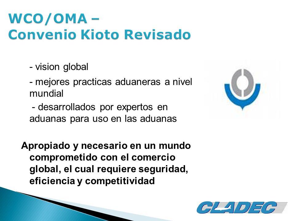 - vision global - mejores practicas aduaneras a nivel mundial - desarrollados por expertos en aduanas para uso en las aduanas Apropiado y necesario en