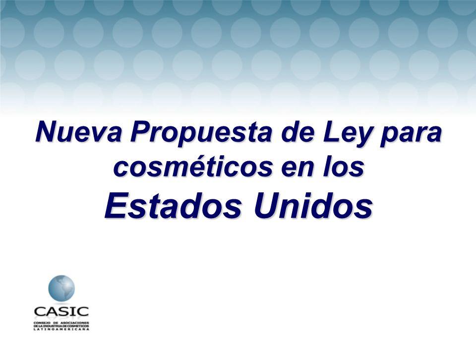 Nueva Propuesta de Ley para cosméticos en los Estados Unidos