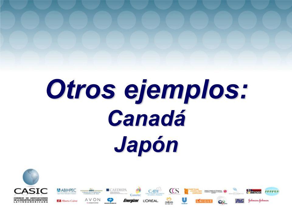 Otros ejemplos: CanadáJapón