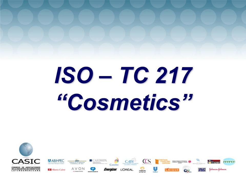 ISO – TC 217 Cosmetics