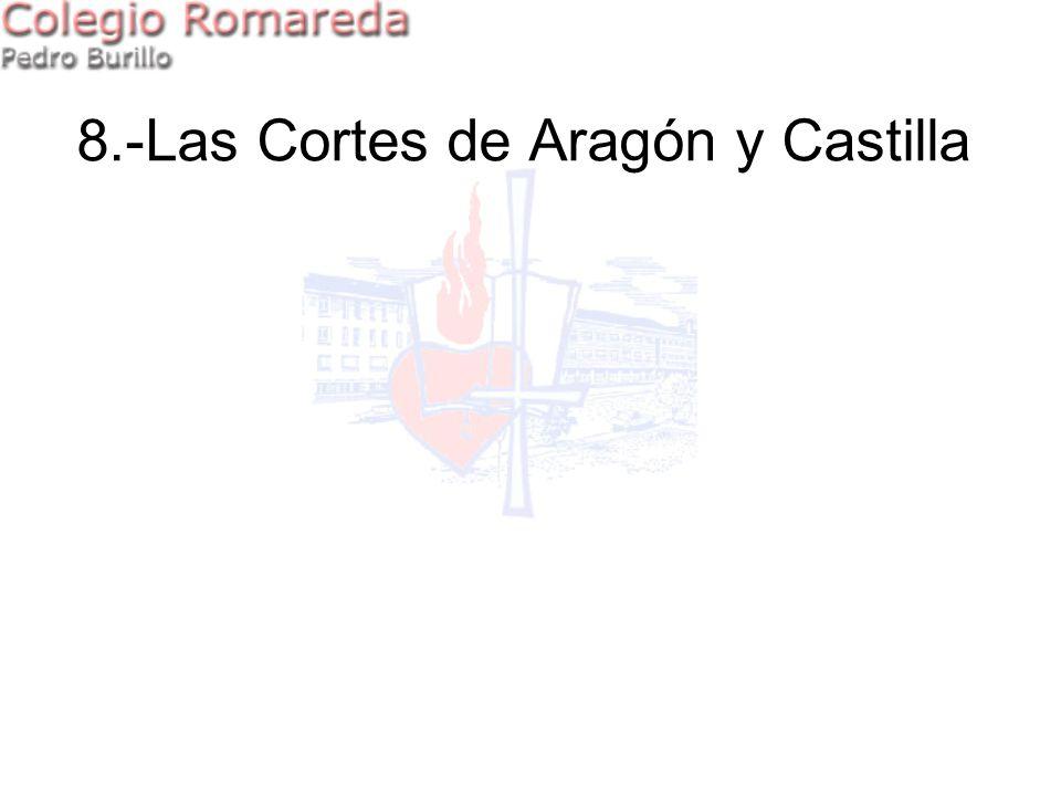 8.-Las Cortes de Aragón y Castilla