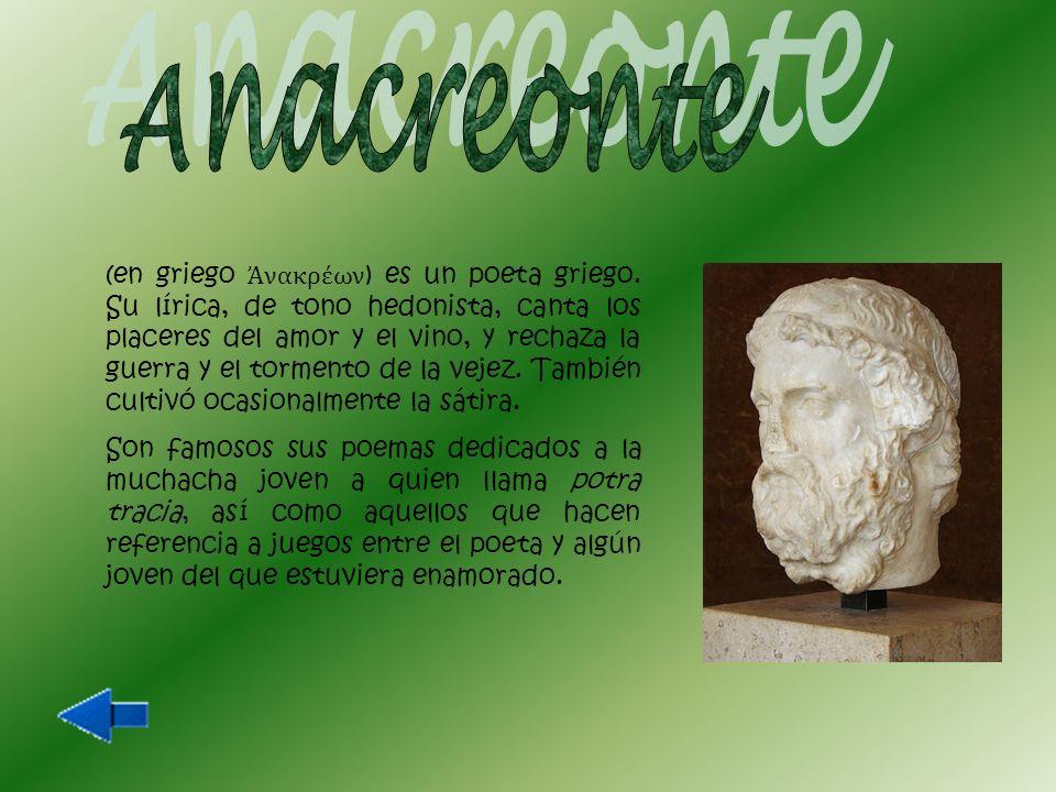 (en griego antiguo Θεόκριτος ), poeta griego fundador de la poesía bucólica o pastoril y uno de los más importantes del Helenismo.