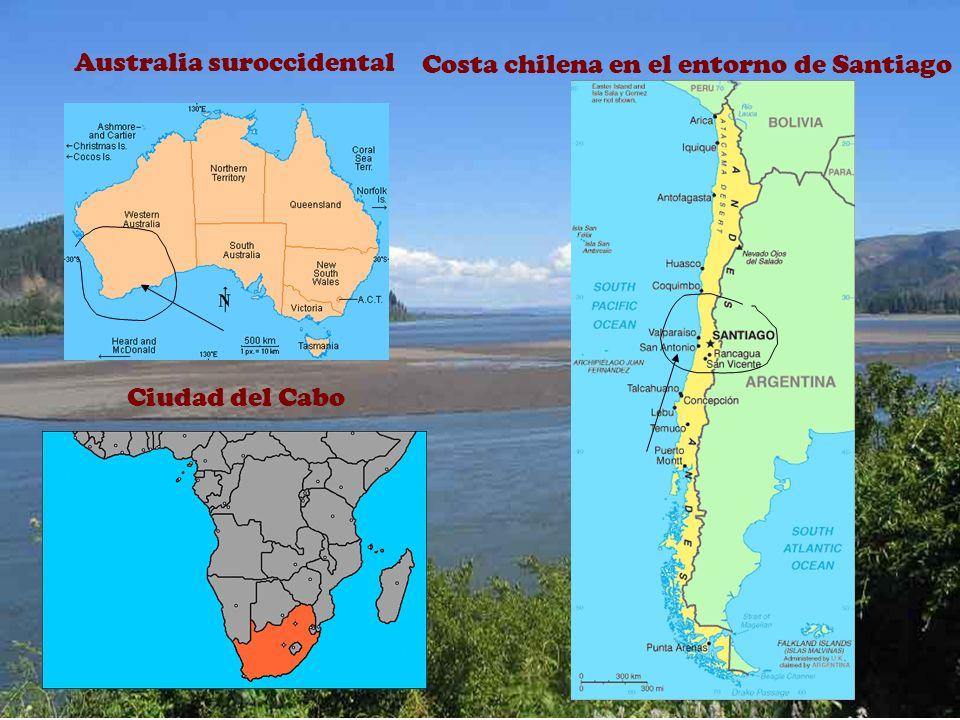 ENTORNO DEL MEDITERRÁNEO DE EUROPA Y ÁFRICA Norteamérica California central y meridional
