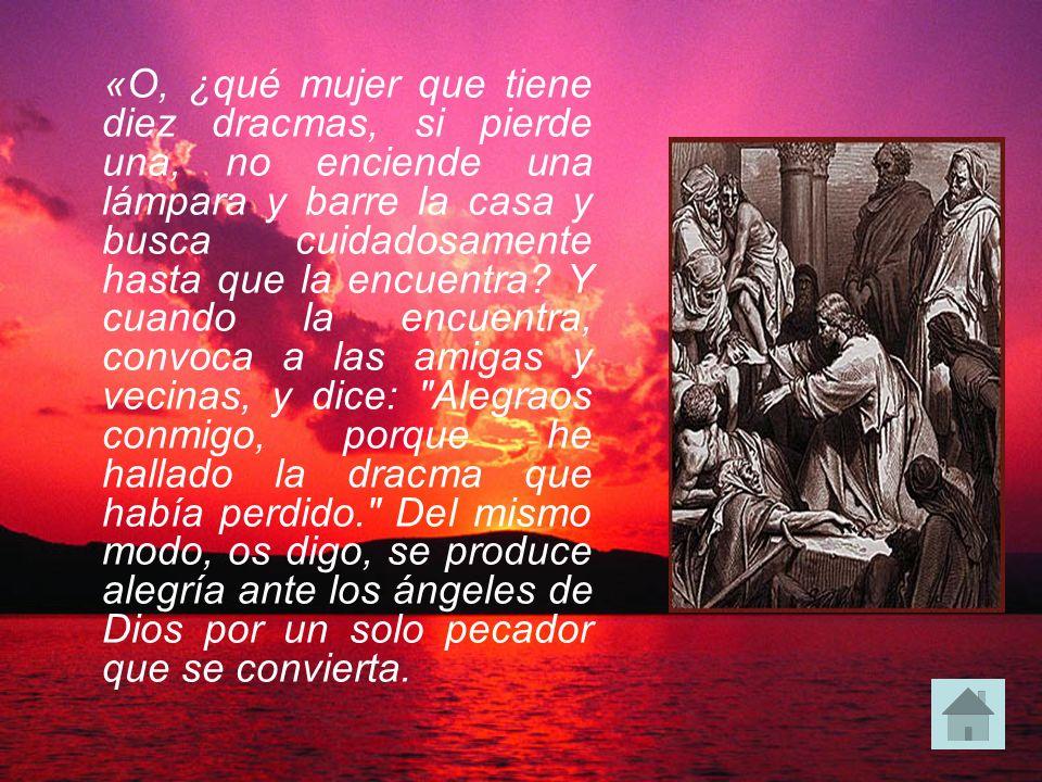 En aquel tiempo, todos los publícanos y los pecadores se acercaban a Jesús para oírle, y los fariseos y los escribas murmuraban, diciendo: «Este acoge