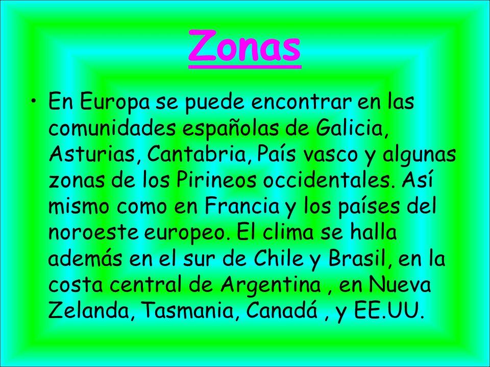 Zonas En Europa se puede encontrar en las comunidades españolas de Galicia, Asturias, Cantabria, País vasco y algunas zonas de los Pirineos occidental