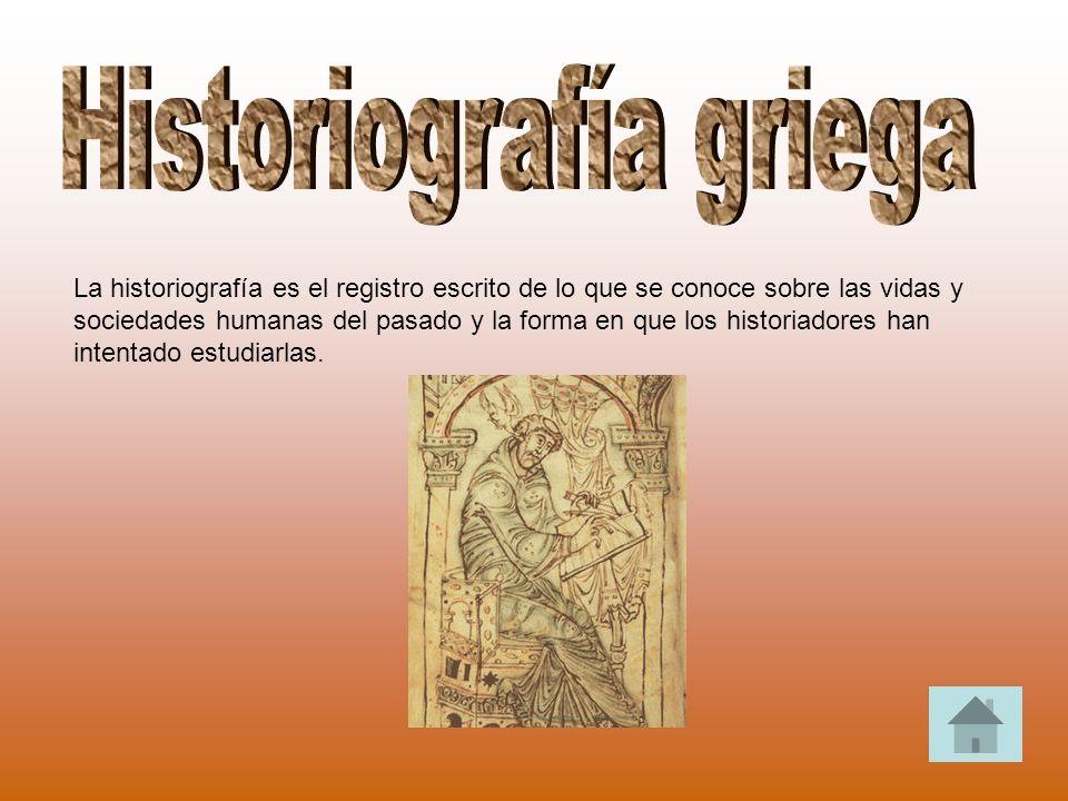 La historiografía es el registro escrito de lo que se conoce sobre las vidas y sociedades humanas del pasado y la forma en que los historiadores han i