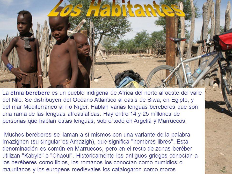 La etnia berebere es un pueblo indígena de África del norte al oeste del valle del Nilo. Se distribuyen del Océano Atlántico al oasis de Siwa, en Egip
