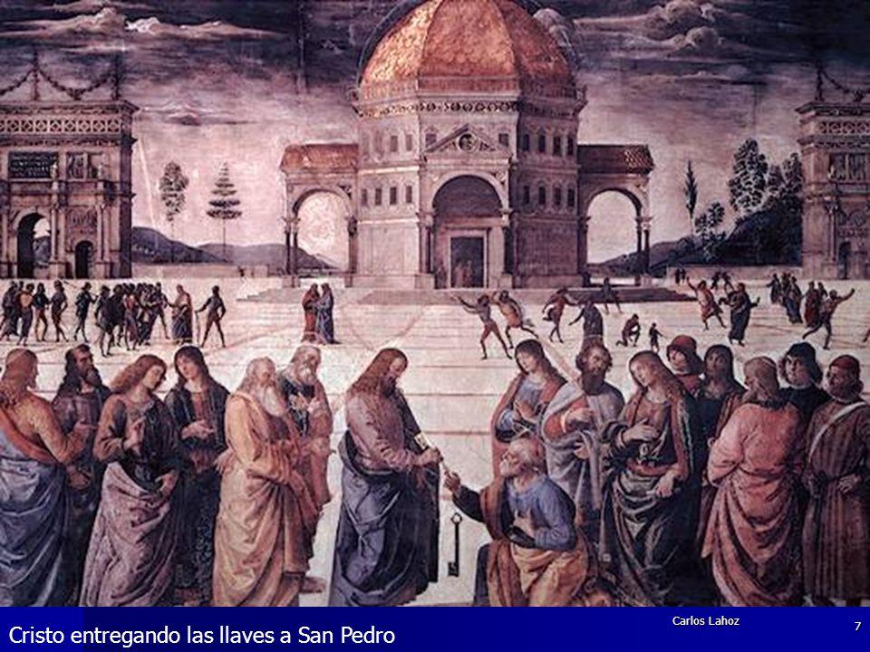 Carlos Lahoz 7 Cristo entregando las llaves a San Pedro
