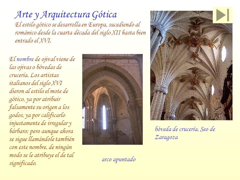 Arte y Arquitectura Gótica El estilo gótico se desarrolla en Europa, sucediendo al románico desde la cuarta década del siglo XII hasta bien entrado el