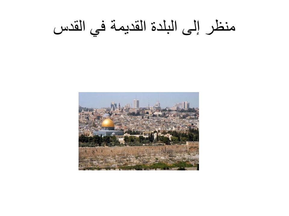 منظر إلى البلدة القديمة في القدس