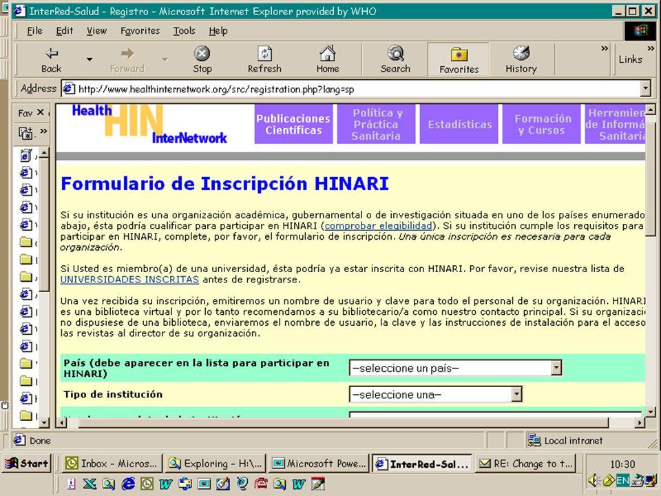 Organización Mundial de la Salud Octubre 2003