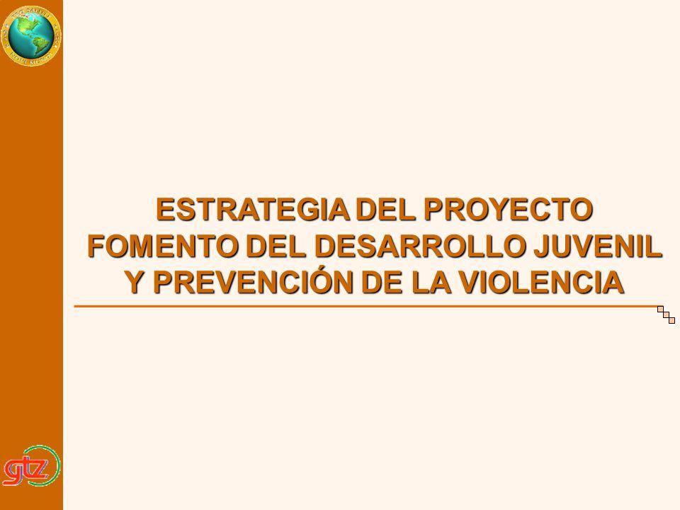 ESTRATEGIA DEL PROYECTO FOMENTO DEL DESARROLLO JUVENIL Y PREVENCIÓN DE LA VIOLENCIA