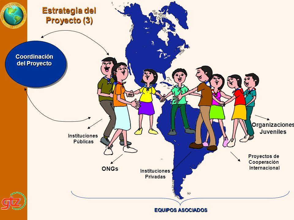 ONGs Proyectos de Cooperación Internacional Internacional InstitucionesPúblicas OrganizacionesJuveniles Coordinación del Proyecto EQUIPOS ASOCIADOS In