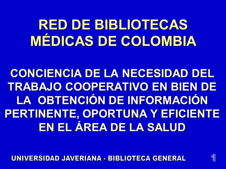 DECADA AÑOS 1990 REGIÓN CENTRAL UNIRECS Participan Bibliotecas en Ciencias de la Salud de Bogotá, Cundinamarca y BoyacáParticipan Bibliotecas en Ciencias de la Salud de Bogotá, Cundinamarca y Boyacá Se extiende a:Se extiende a: Universidades con programas academ.