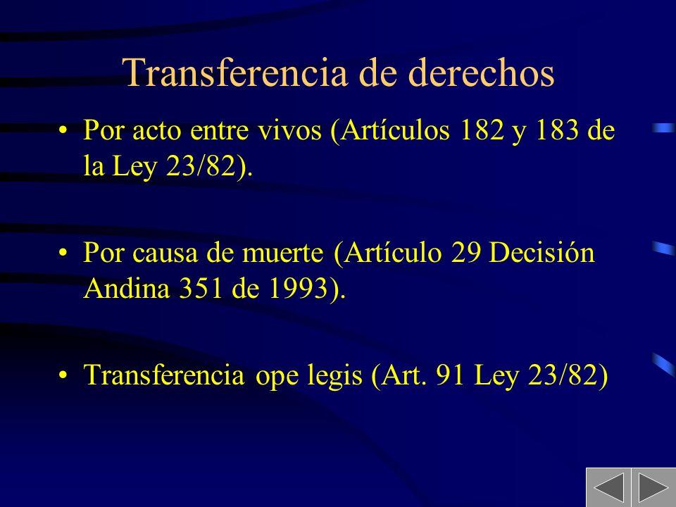 18 LOS DERECHOS PATRIMONIALES CONCEDER AUTORIZACIONES DE USO: licencia TRANSFERIR LOS DERECHOS PATRIMONIALES: Cesión Actos de Disposición