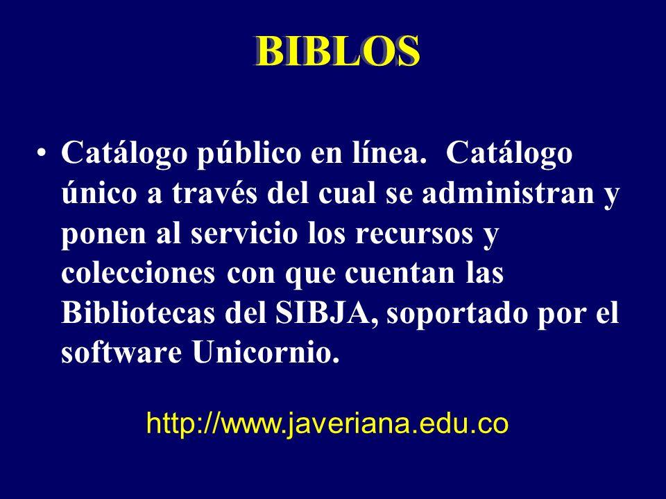 Catálogo público en línea.