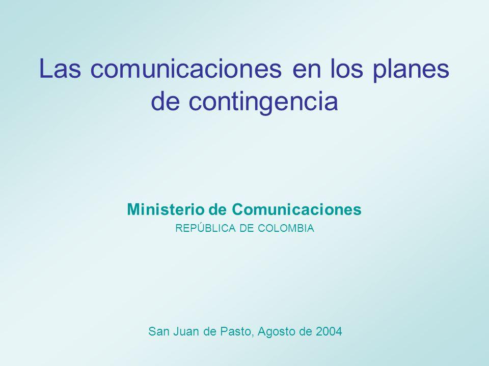 Comunicaciones y Desastres Todo lo referente a las comunicaciones se considera elemento fundamental en la estructuración de la prevención, de la mitigación y de la adecuada respuesta ante situaciones de riesgo y crisis.
