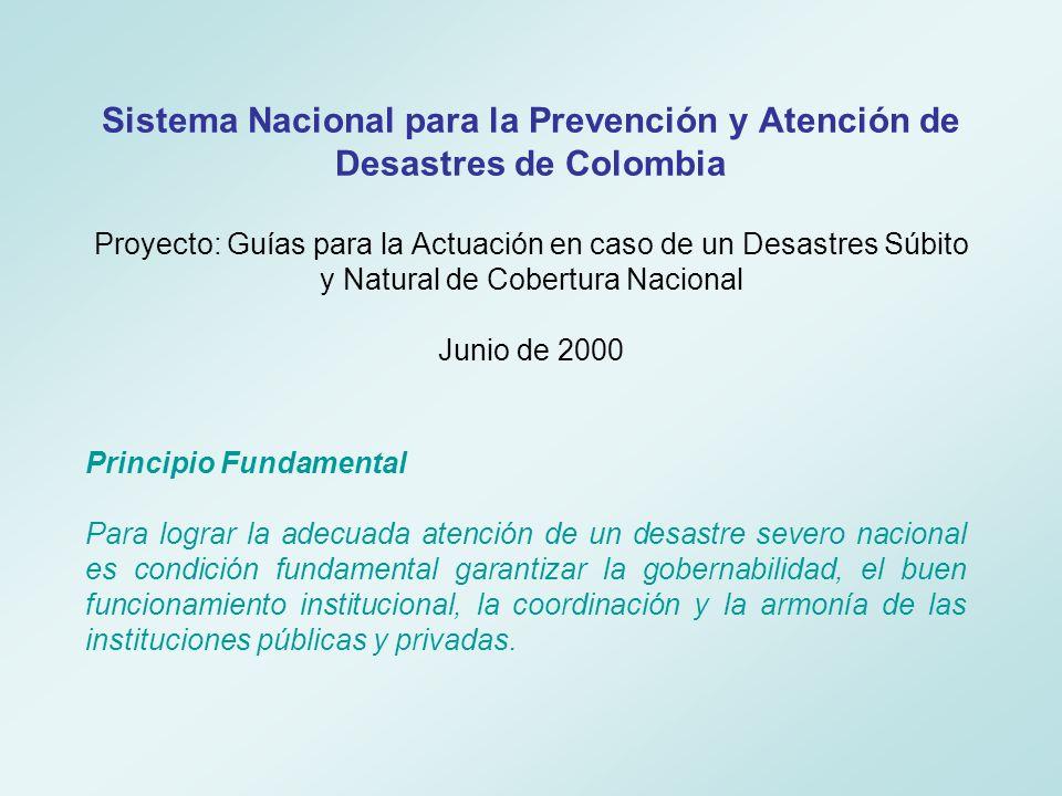 Coordinación Comité Operativo Nacional 4.Coordinación de telecomunicaciones 3.