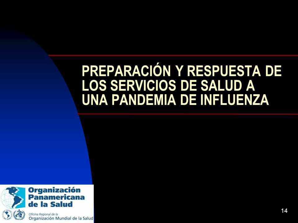 14 PREPARACIÓN Y RESPUESTA DE LOS SERVICIOS DE SALUD A UNA PANDEMIA DE INFLUENZA