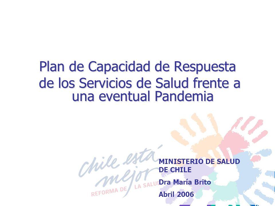 Plan de Capacidad de Respuesta de los Servicios de Salud frente a una eventual Pandemia de los Servicios de Salud frente a una eventual Pandemia MINIS