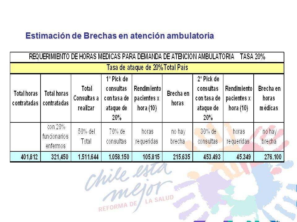 Estimación de Brechas en atención ambulatoria