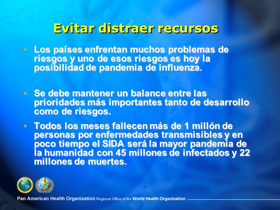 Los países enfrentan muchos problemas de riesgos y uno de esos riesgos es hoy la posibilidad de pandemia de influenza.Los países enfrentan muchos problemas de riesgos y uno de esos riesgos es hoy la posibilidad de pandemia de influenza.