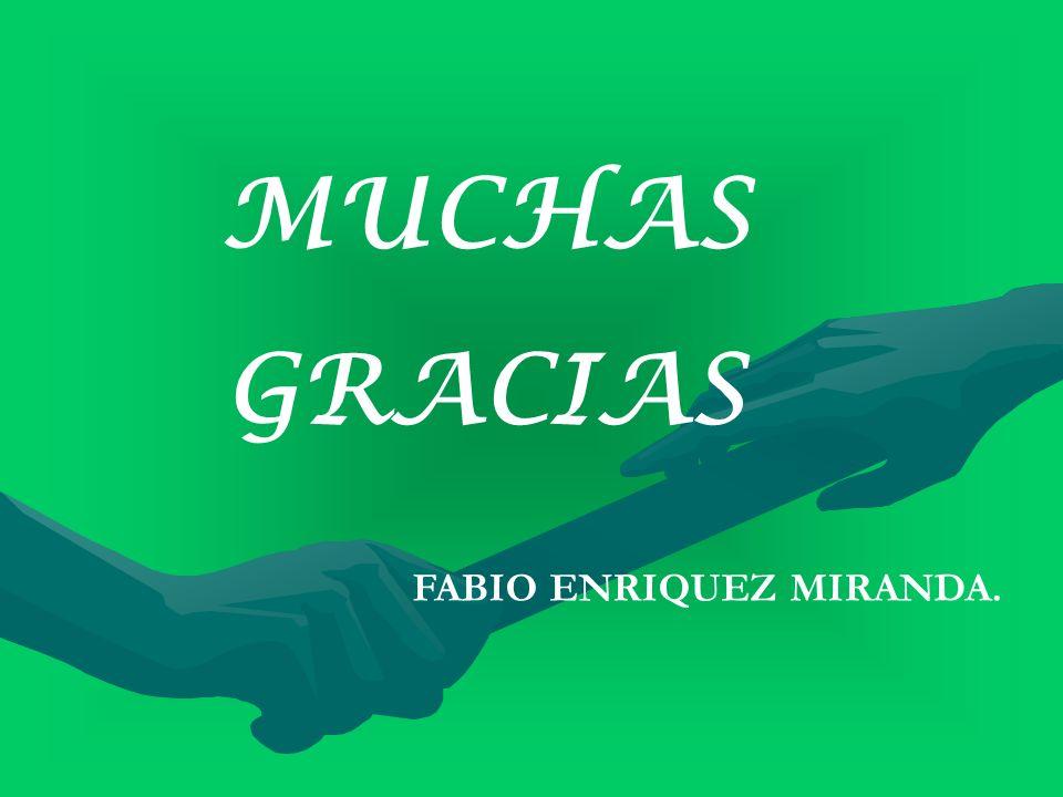 MUCHAS GRACIAS FABIO ENRIQUEZ MIRANDA.