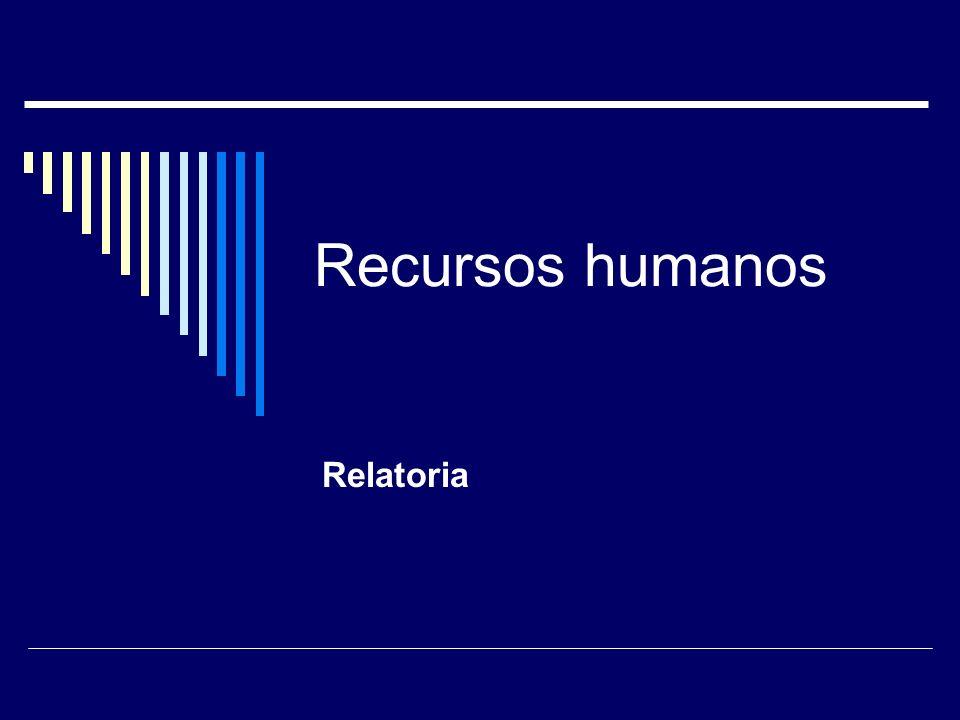 Recursos humanos Relatoria