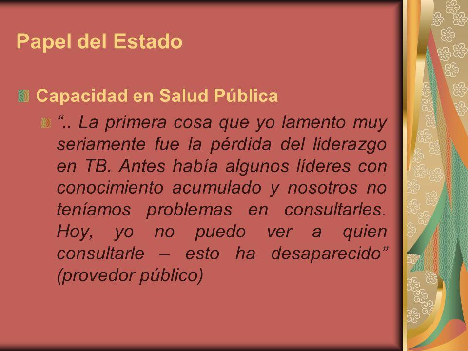 Papel del Estado Capacidad en Salud Pública..