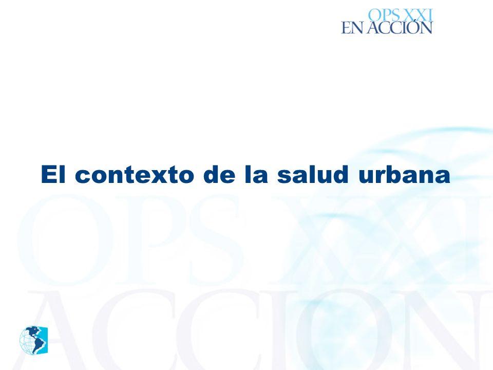 ´ El contexto de la salud urbana