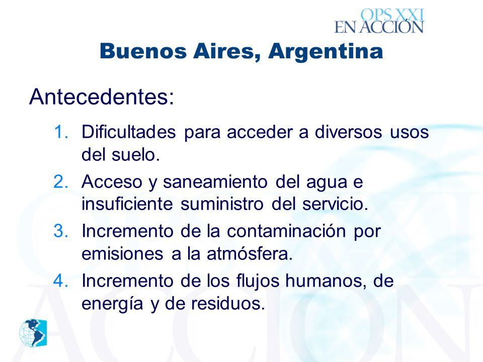 ´ Buenos Aires, Argentina Antecedentes: 1.Dificultades para acceder a diversos usos del suelo.