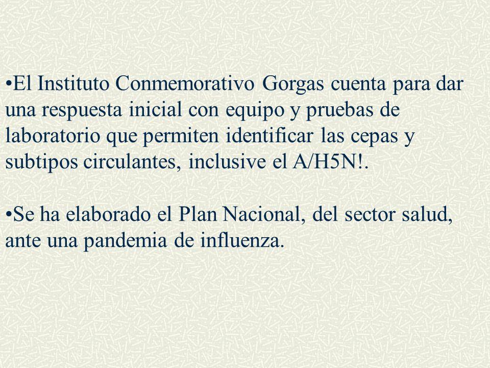El Instituto Conmemorativo Gorgas cuenta para dar una respuesta inicial con equipo y pruebas de laboratorio que permiten identificar las cepas y subti