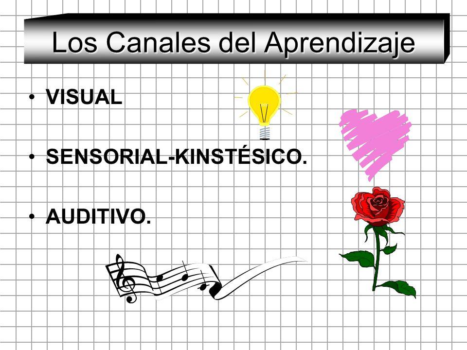 Los Canales del Aprendizaje VISUAL SENSORIAL-KINSTÉSICO. AUDITIVO.