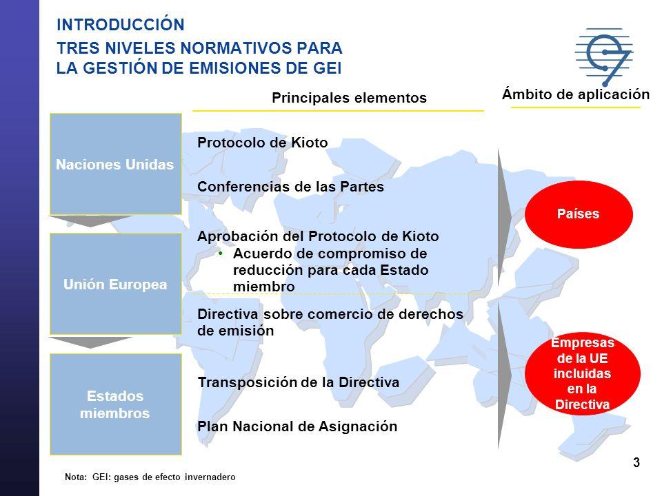 14 PROYECTOS No se reconocerán como válidas las URE/RCE de: Sumideros: no suponen reducciones permanentes de emisiones y no son proyectos de transferencia o desarrollo tecnológicos En general: proyectos con efectos ambientales y sociales negativos (ej, producción hidroeléctrica a gran escala) Actividades nucleares: de acuerdo al Protocolo de Kioto En el caso de proyectos de producción hidroeléctrica con un potencia superior a 20 MW, los Estados Miembros deberán tener en cuenta, al aprobar esos proyectos, si se cumplen los criterios de las guías internacionales, incluidas las del informe de la comisión mundial de grandes presas de Noviembre del 2000.